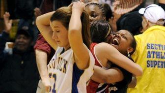 Lauren Guja of Mattituck walks away in defeat