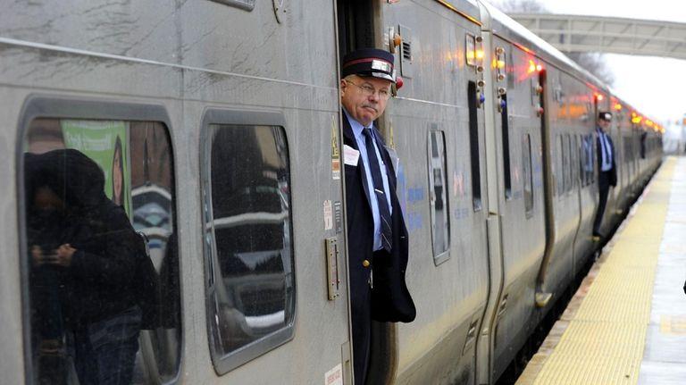 File photo: An LIRR train prepares to leave