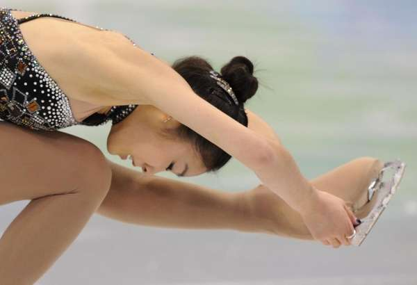 South Korea's Yu-Na Kim performs in the Ladies'