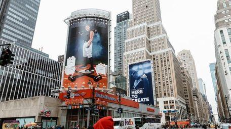 The Aaron Judge adidas billboard on 33rd Street