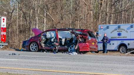 Authorities are investigating a motor vehicle crash on