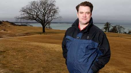 Course superintendent Garrett Bodington of the Sebonack Golf