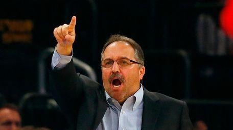 Head coach Stan Van Gundy of the Detroit