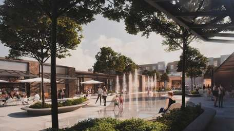 A rendering of part of a 93-acre mixed-use