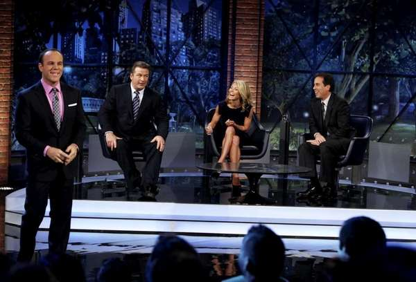 Pictured: (l-r) Tom Papa, Alec Baldwin, Kelly Ripa,