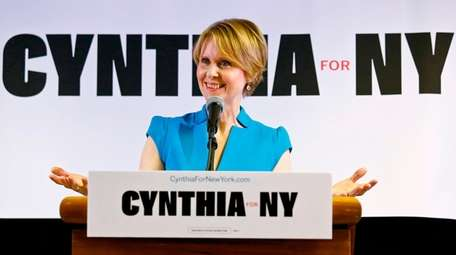 New York candidate for governor Cynthia Nixon at