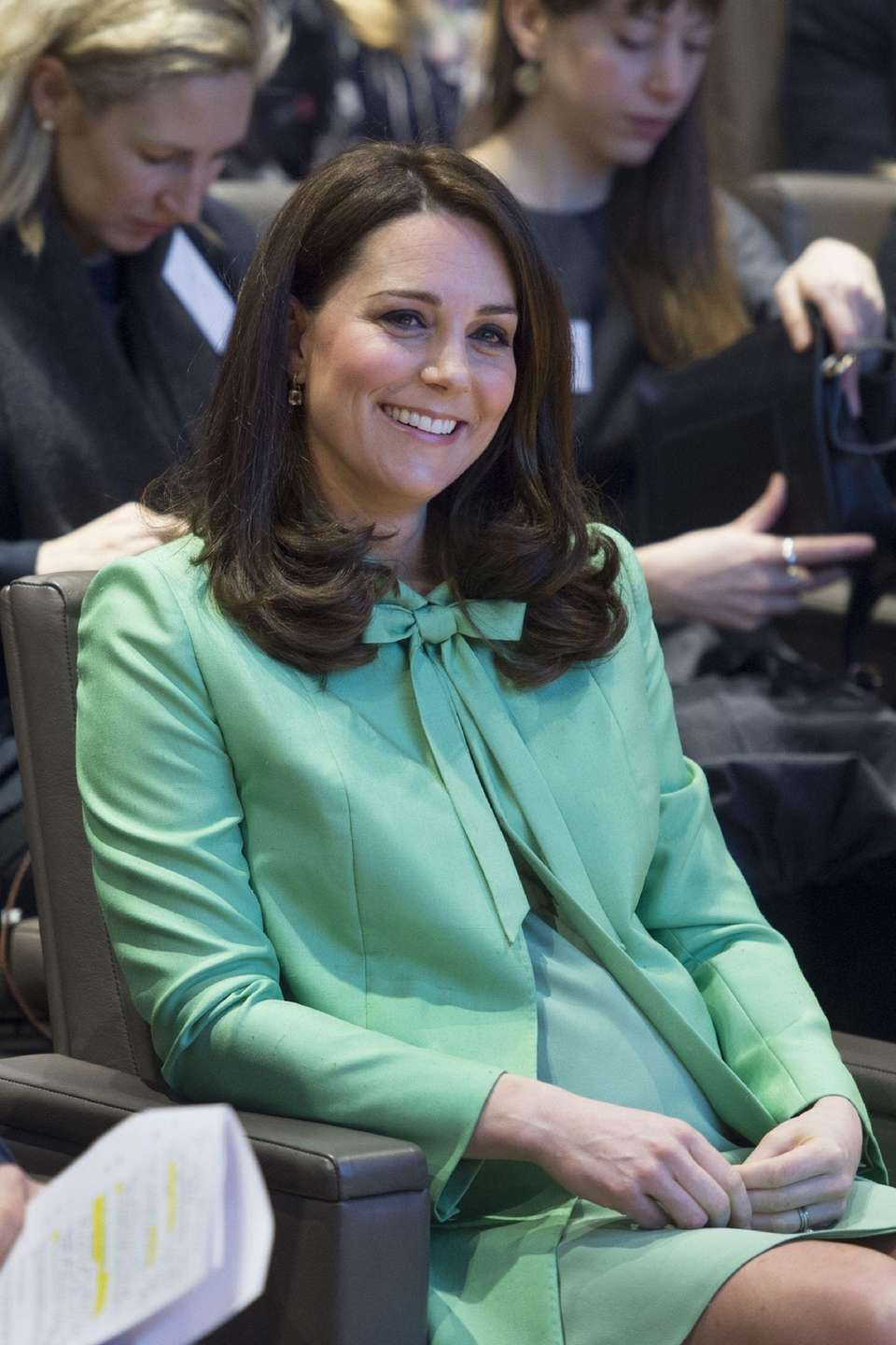 Catherine, Duchess of Cambridge during a symposium she