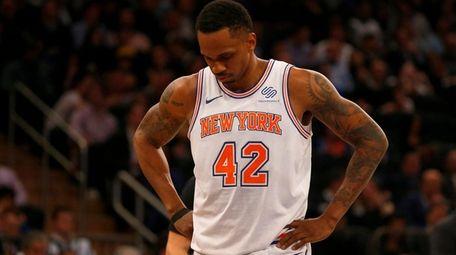 Lance Thomas #42 of the New York Knicks