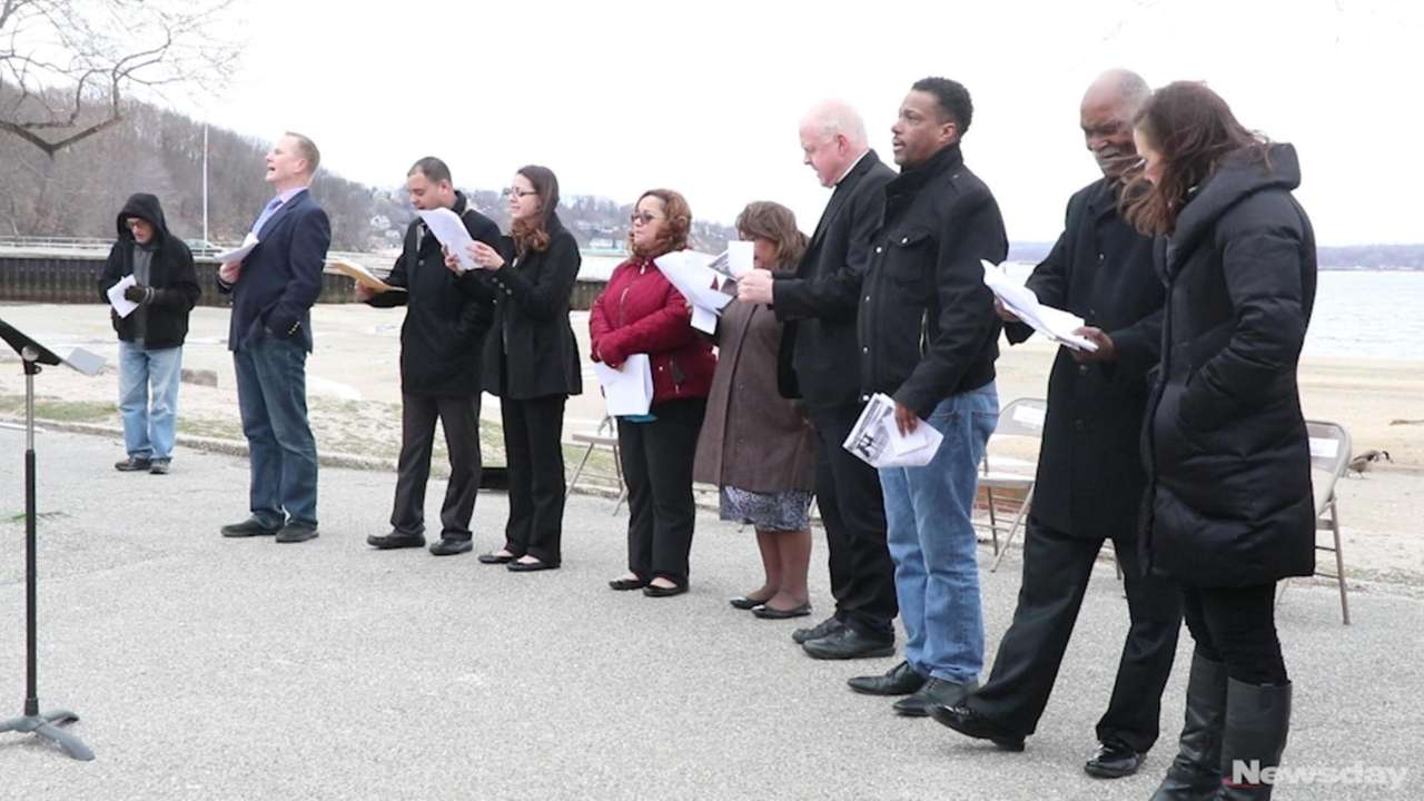An Easter dawn service was held at Morgan