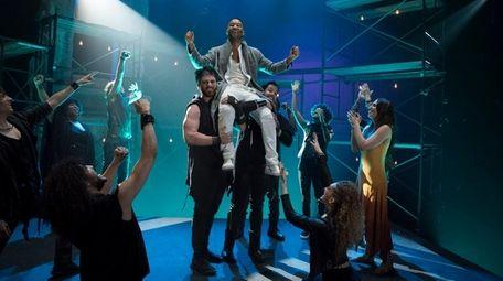 John Legend (center) as Jesus Christ, Sara Bareilles