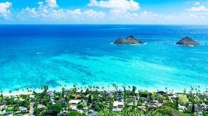 Lanikai Beach, located on the Windward Coast of