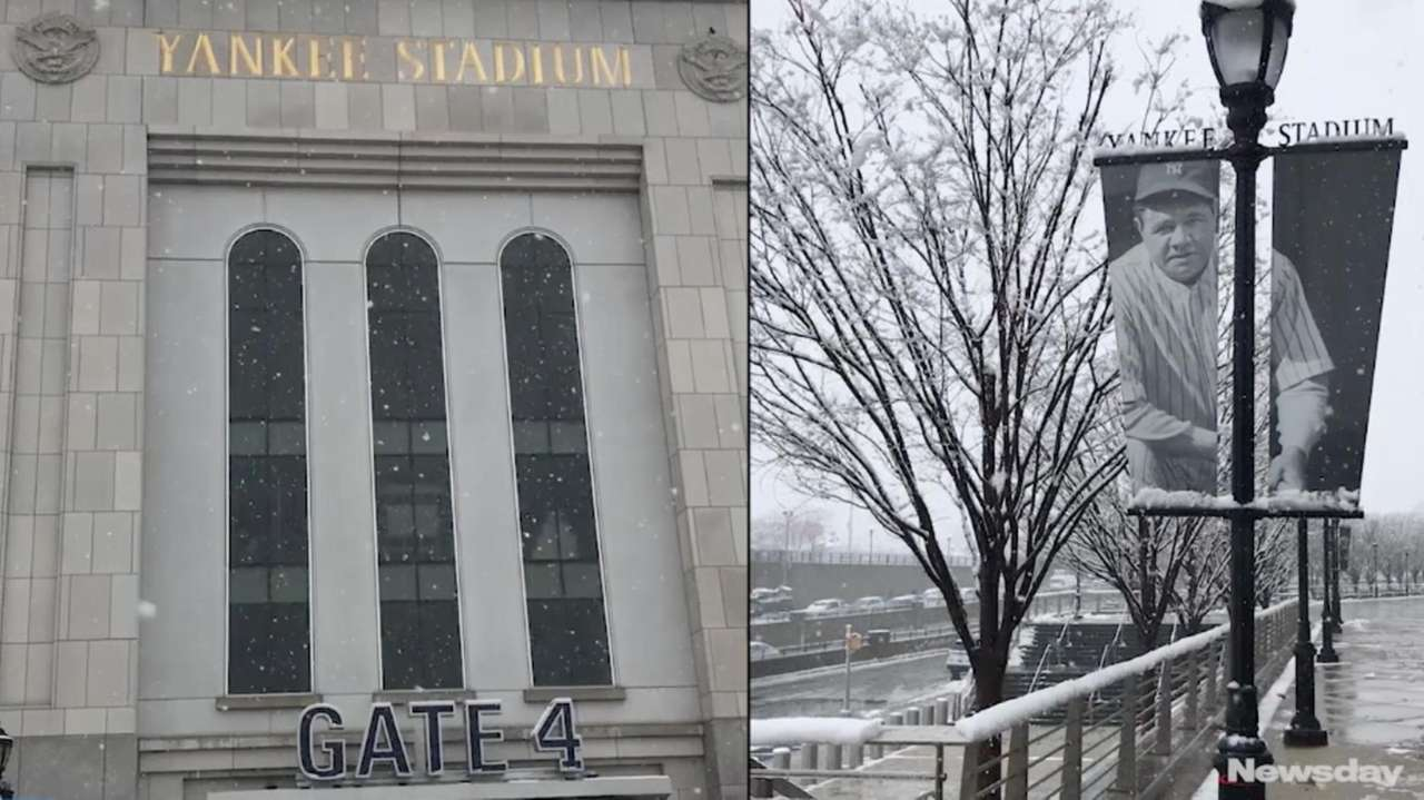 The Yankees' home opener was postponed by snow