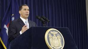 New York Gov. David Paterson announces that he
