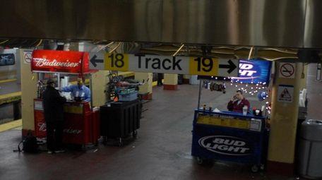 Bar carts at Penn Station in 2006.
