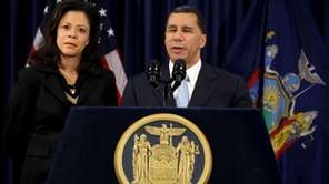 Gov. David A. Paterson, joined by wife Michelle,