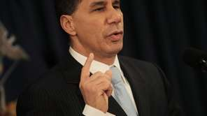 New York Gov. David A. Paterson announces he