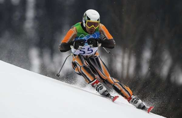 Jorge Mandru of Chile competes during the Alpine