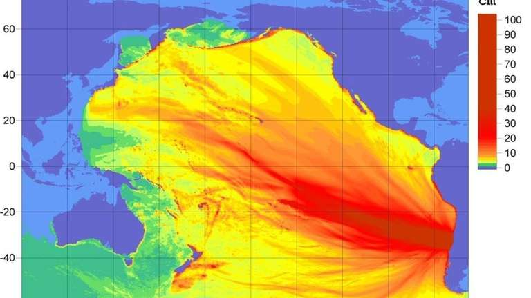 This image obtained from the National Oceanic and