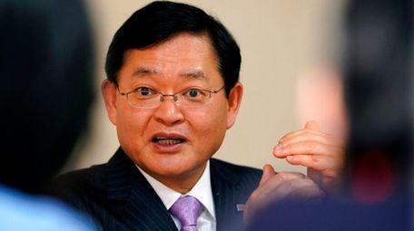 Nobuaki Kurumatani, chairman and CEO of Toshiba Corp.,