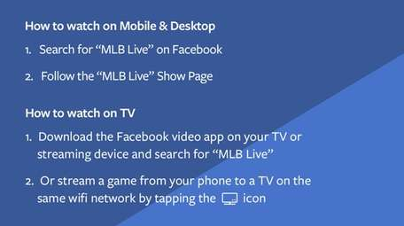 Instructions for how to watch Wednesday's Mets' game