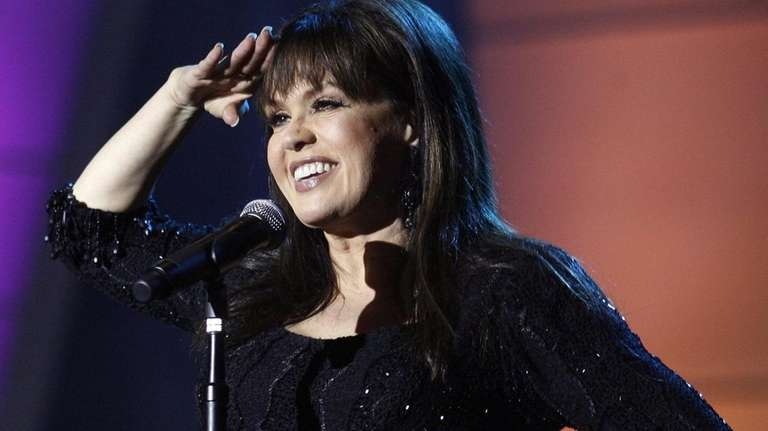Marie Osmond performs during a taping of the