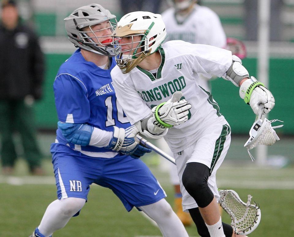 Longwood's Brandon Castellano looks to get around North