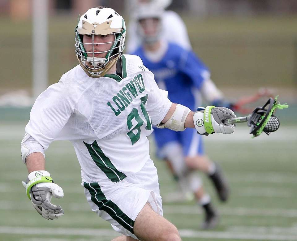Longwood's Jake Murphy gets possession after a face-off