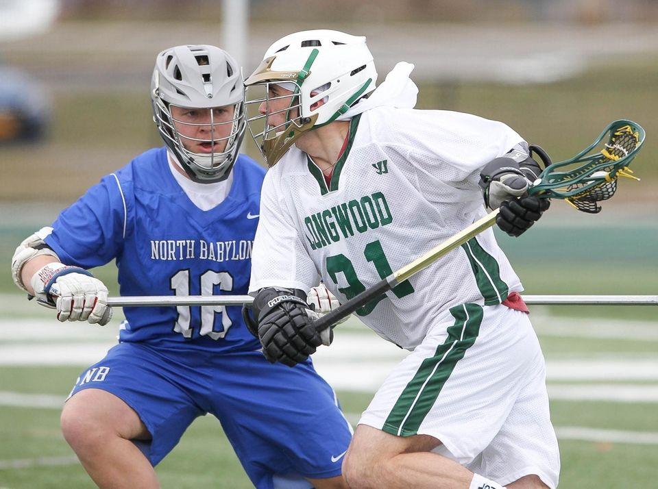 Longwood's Jake Murphy looks to get around North