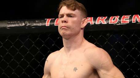Paul Felder is seen before his mixed martial