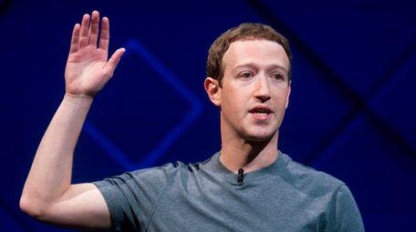 Facebook CEO Mark Zuckerberg speaks at his company's