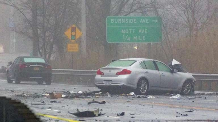 Two people were killed in a five-car crash