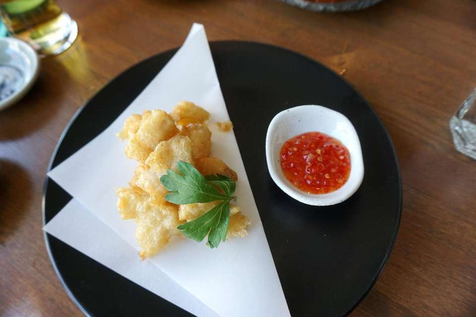Tempura cod, an occasional special at Stirling