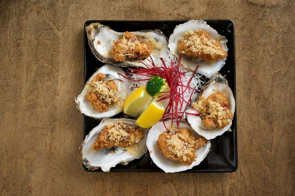 Fried Blue Point oysters, an appetizer at Koi