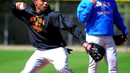 Jose Reyes at Mets spring training in Port