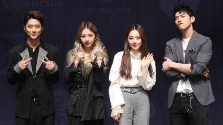 The South Korean K-pop band KARD in Seoul,