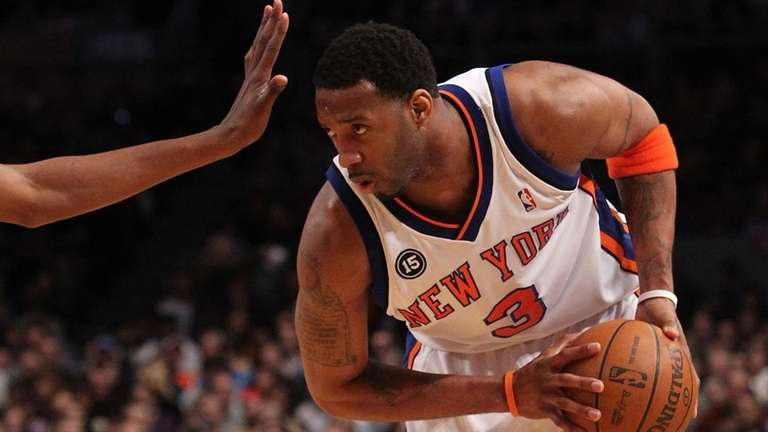 Tracy McGrady #3 of the New York Knicks