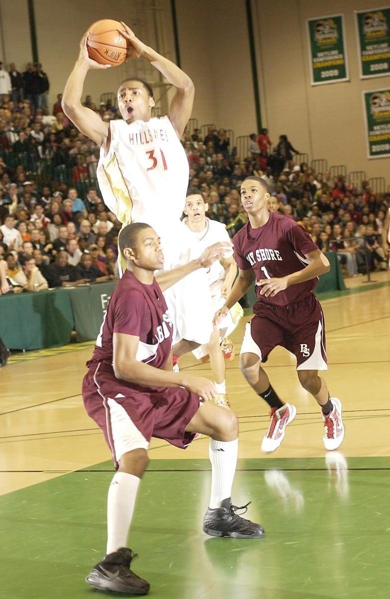 West Hills Emile Blackman (31, left center),
