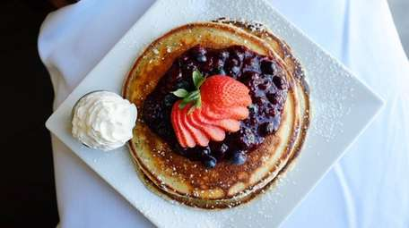 Ultimate berry pancakes (lemon-poppy pancakes, berry compote and