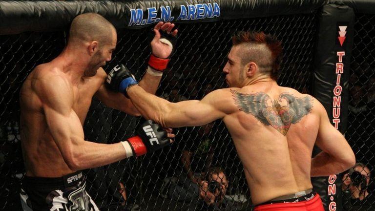 A still from the filmed UFC 111 fight,
