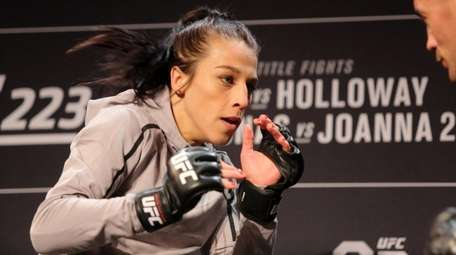 Joanna Jedrzejczyk does an open workout after the