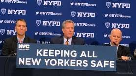 Mayor Bill de Blasio discussed year-to-date crime figures