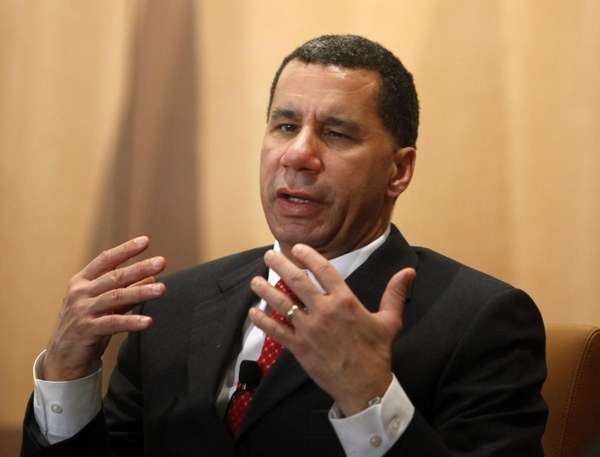Gov. David A. Paterson speaks at a breakfast
