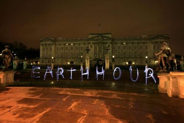 London: A look at Buckingham Palace during Earth