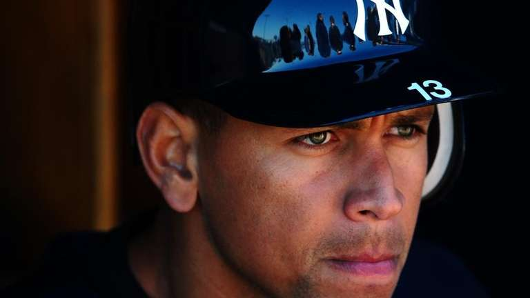 Alex Rodriguez during spring training workouts at George