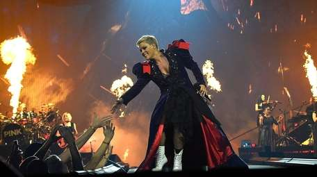 Pink performs during her