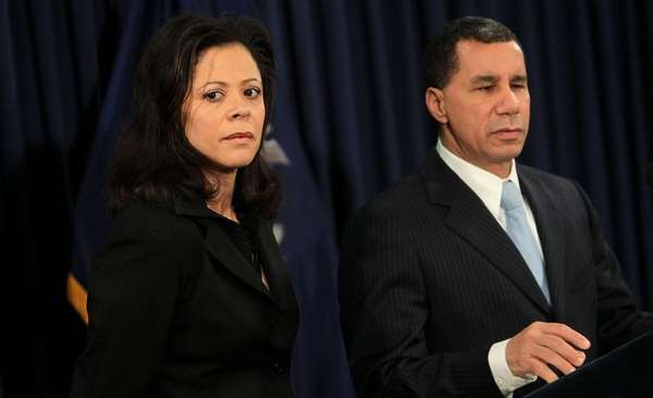 Gov. David Paterson, with his wife Michelle Paterson