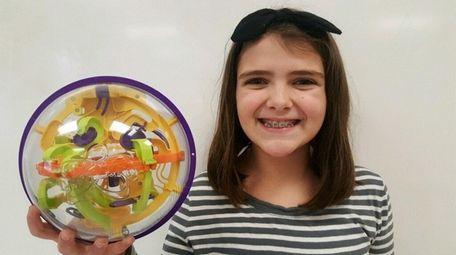 Kidsday reporter Genevieve Shannon with a Perplexus Original.