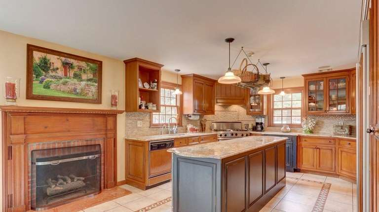 The kitchen of the Old Westbury home.