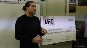 On Wednesday, UFC featherweight Brian Ortega visited Friends