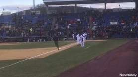Mets minor-league outfielder Tim Tebow was introduced for